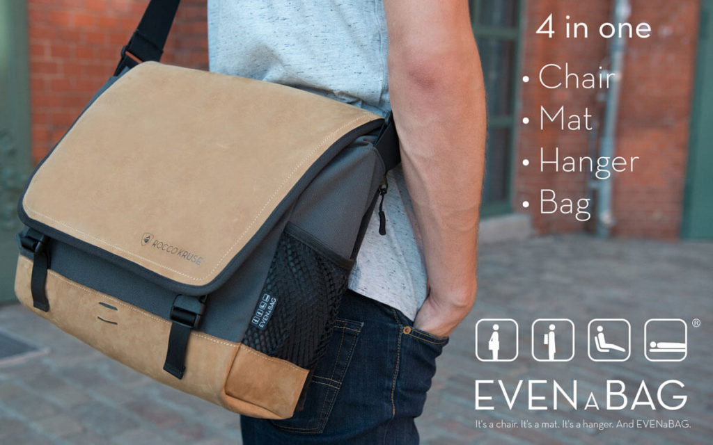 Multifunctional laptop bag with four functions, made by Rocco Kruse