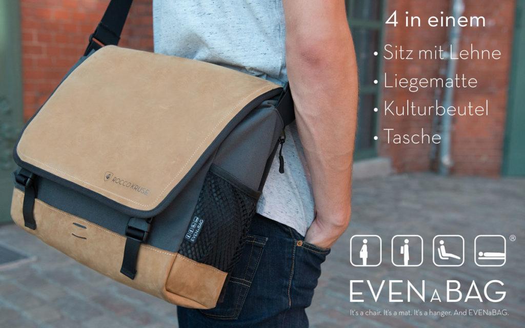 Multifunktionale Laptoptasche mit vier Funktionen von Rocco Kruse